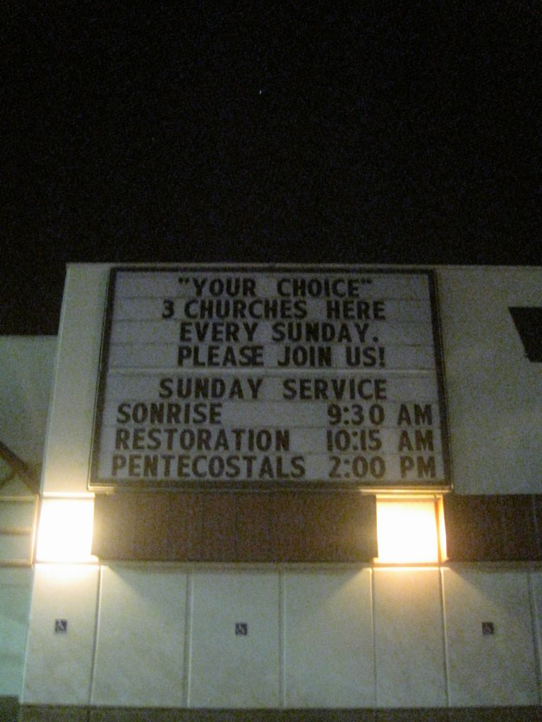 Church Movie Marquee